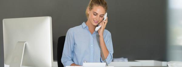 Serviço de recepcionista e telefonista de qualidade